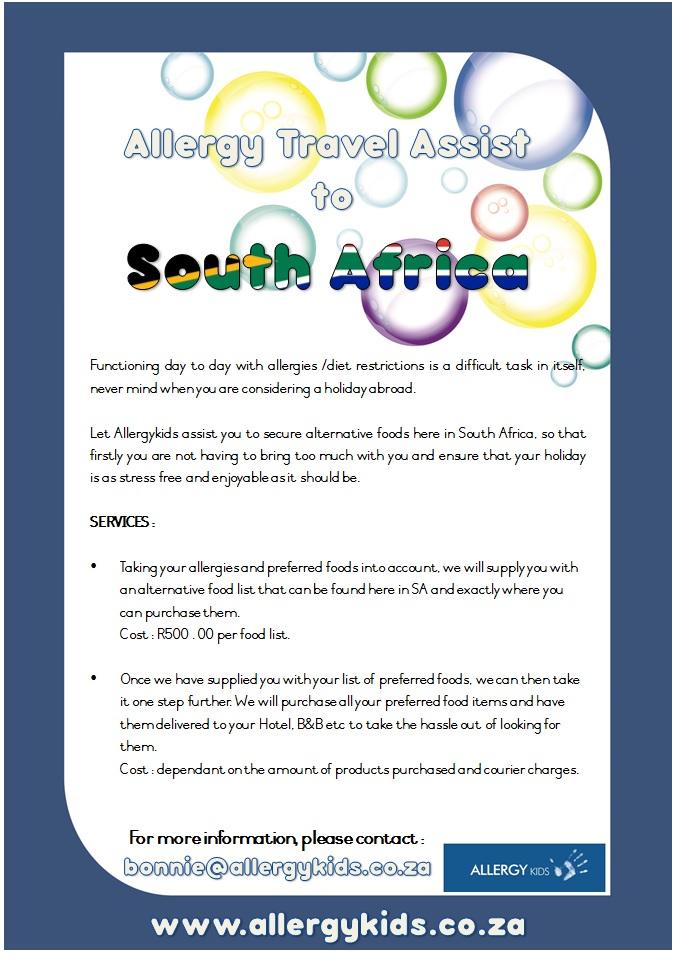 Allergy Travel Assist - Allergykids.co.za